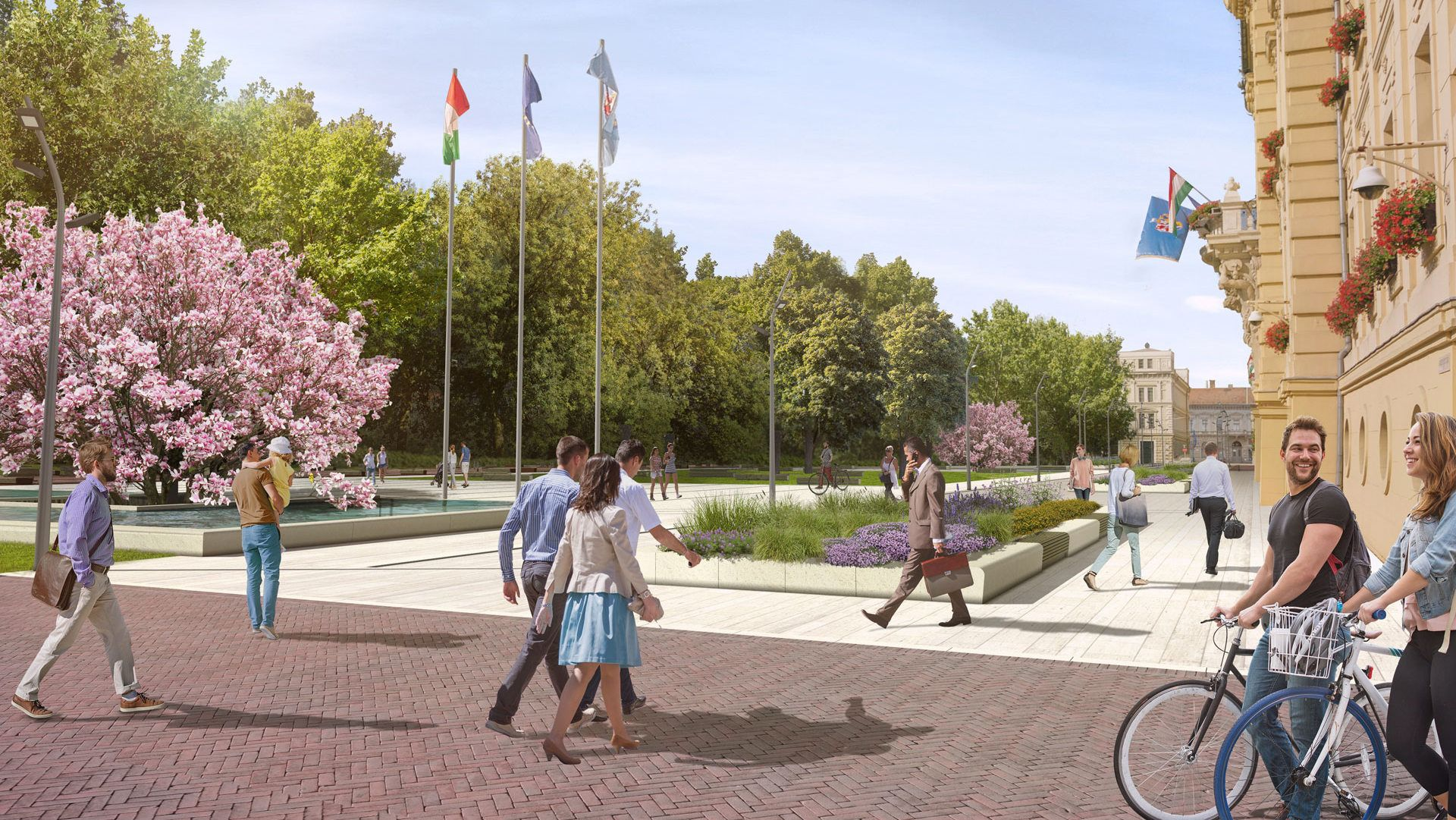 The Main Square in Szeged gets rebuilt with more greenery