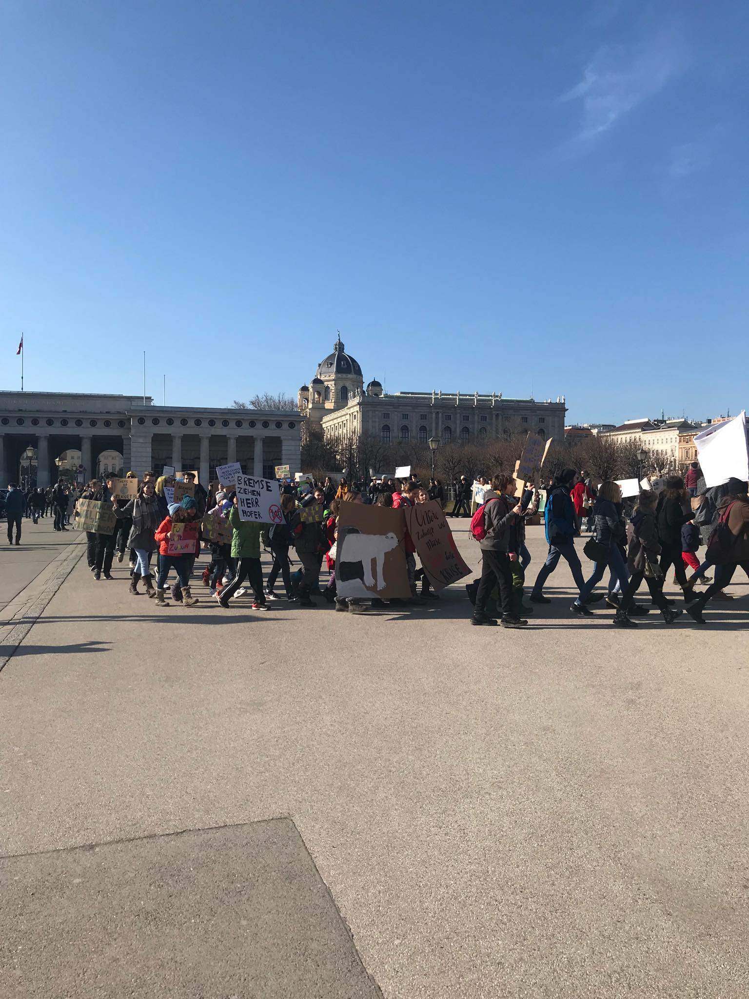 Climate Change manifestation of children in the center of Vienna