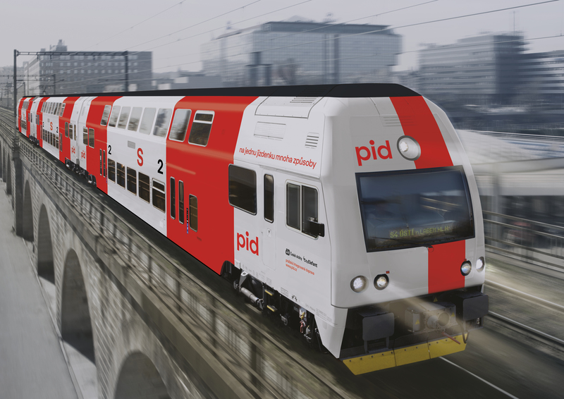 Prague train with new design