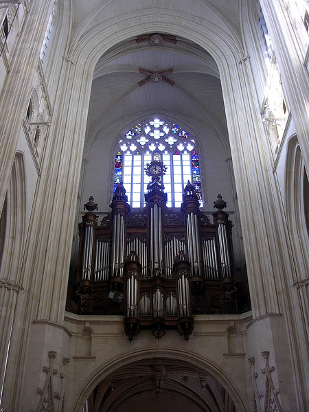 Cathedrale de Nantes - grand orgue avant