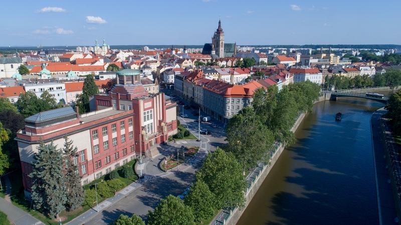 Hradec Kralove Museum aerial view