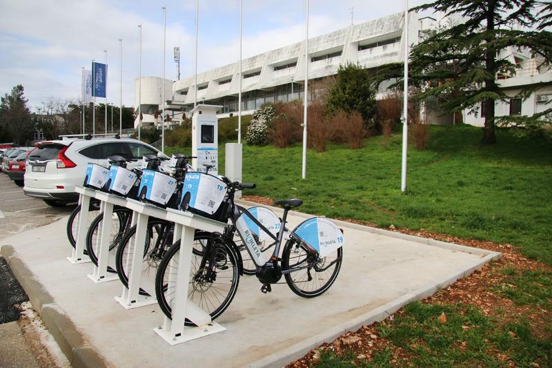 Rijeka new bike sharing system terminal