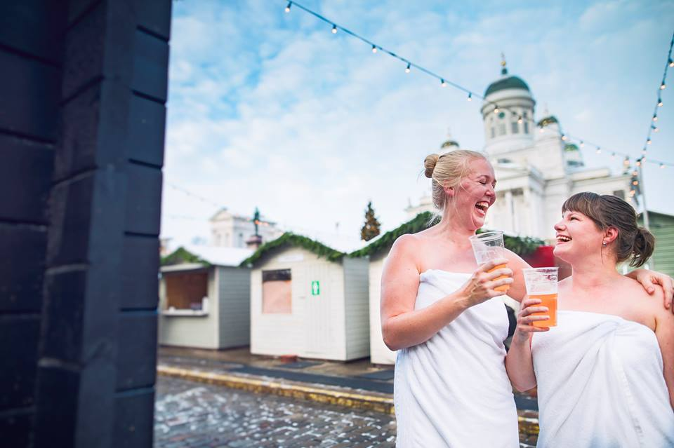 Experience the Christmas Sauna in Helsinki