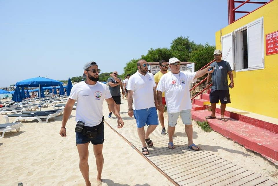 The Mayor of Ayia Napa inspected the cleanliness of the town