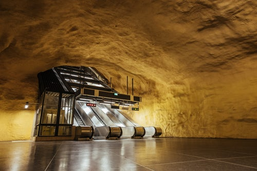Discover 100 kilometres of art and culture with the Stockholm Metro system