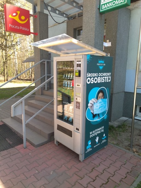 Poland Sanitizer and Mask vending machine in Psary