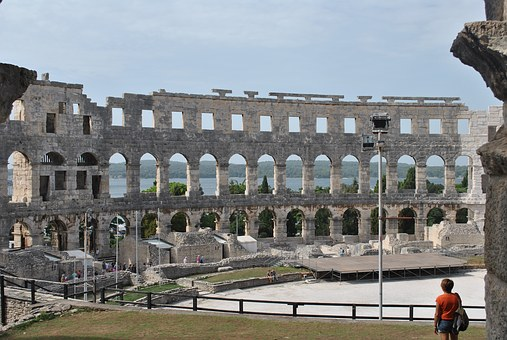 A football match will be played for the first time inside Pula Arena