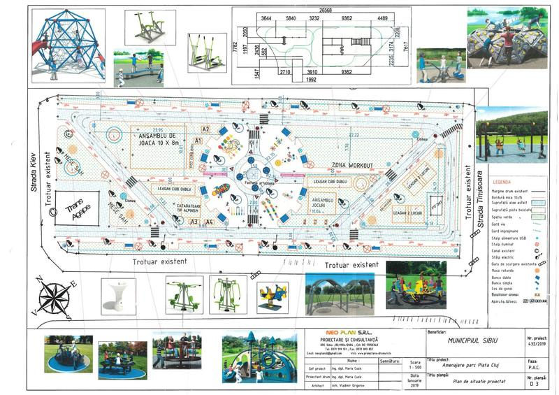 The park in Cluj Square in Sibiu will be completely reconfigured and modernized