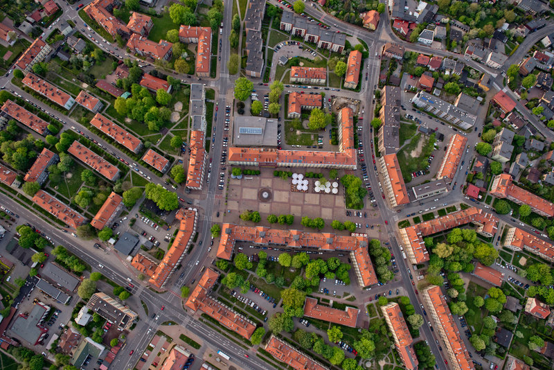 Tychy aerial view