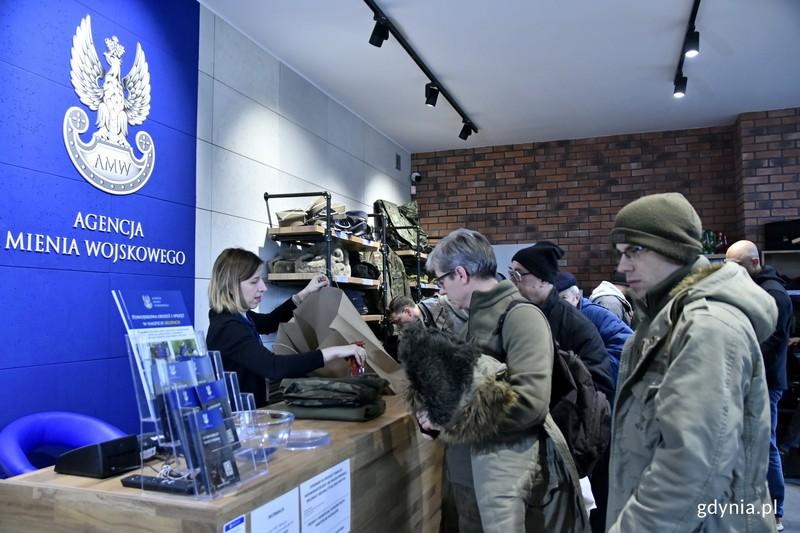 military shop in Gdynia