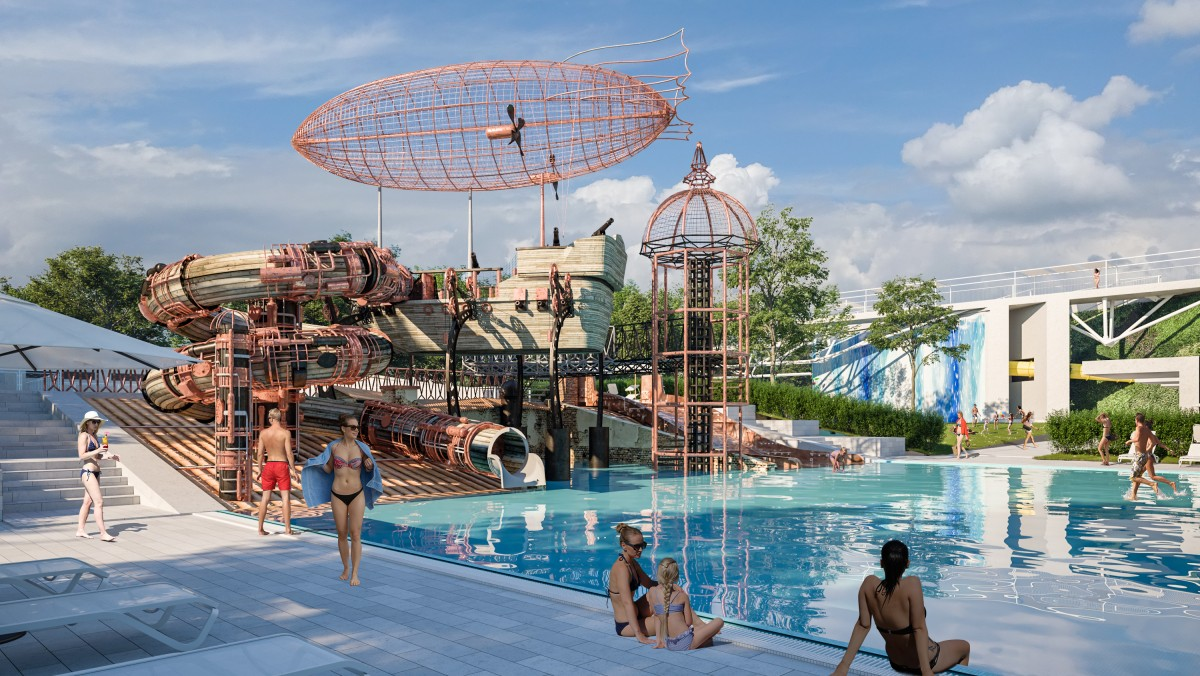 See what the spectacular swimming park in Debrecen will look like