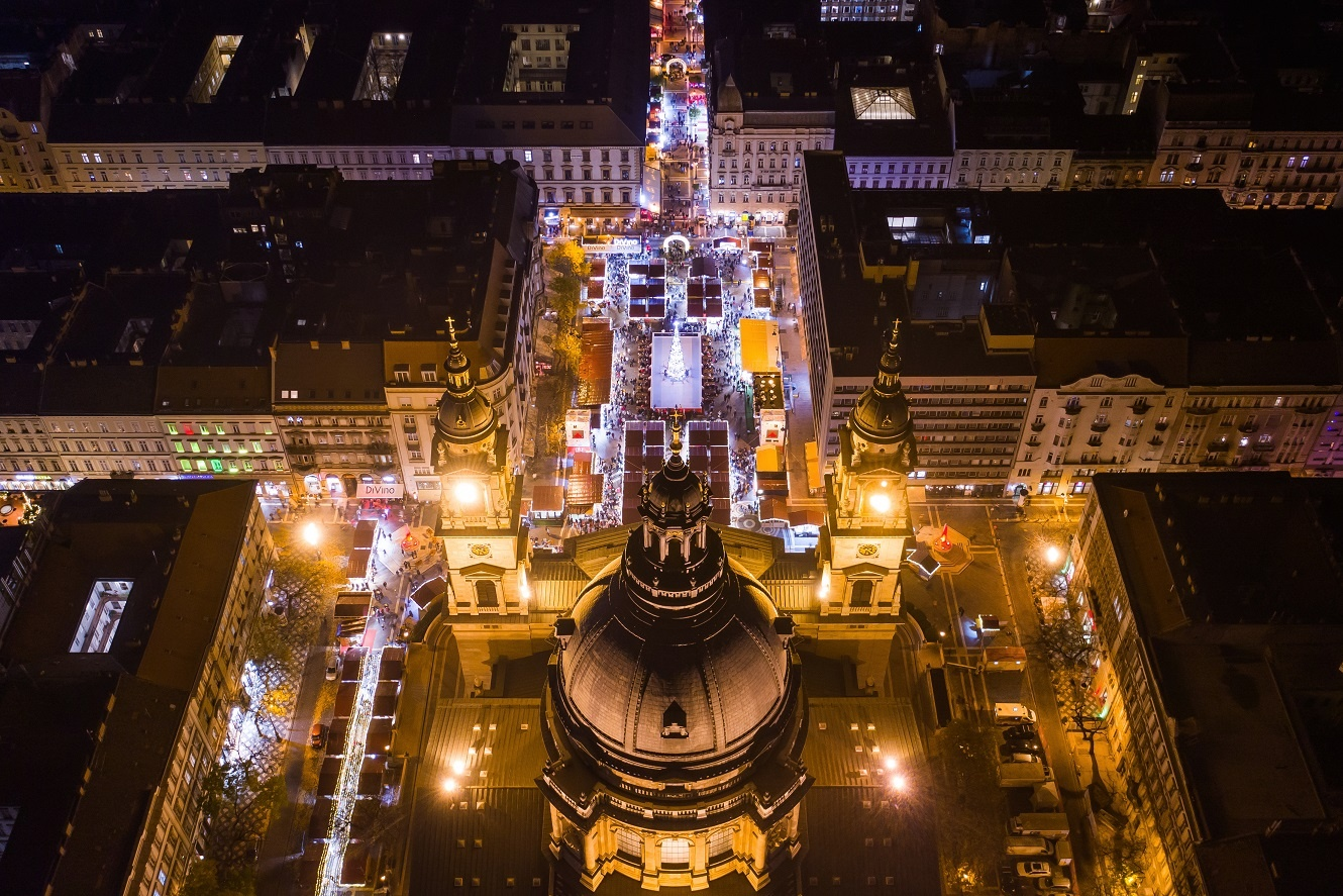 Aerial view of Advent Feast at the Basilica