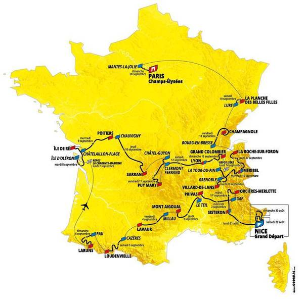 Tour de France stages 2020