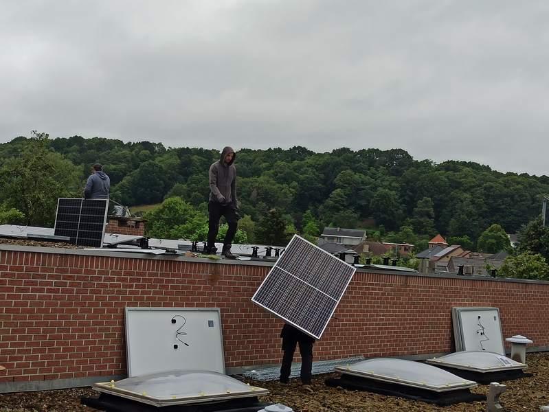 roof of solar installation Leuven