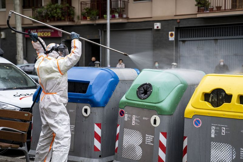 Barcelona disinfection during covid-19 pandemic