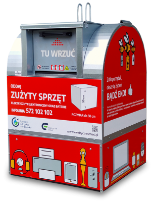 electric waste container