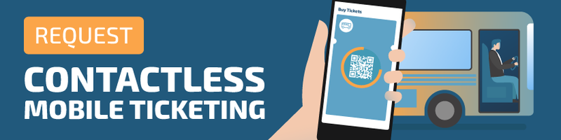 Request contactless mobile ticketing