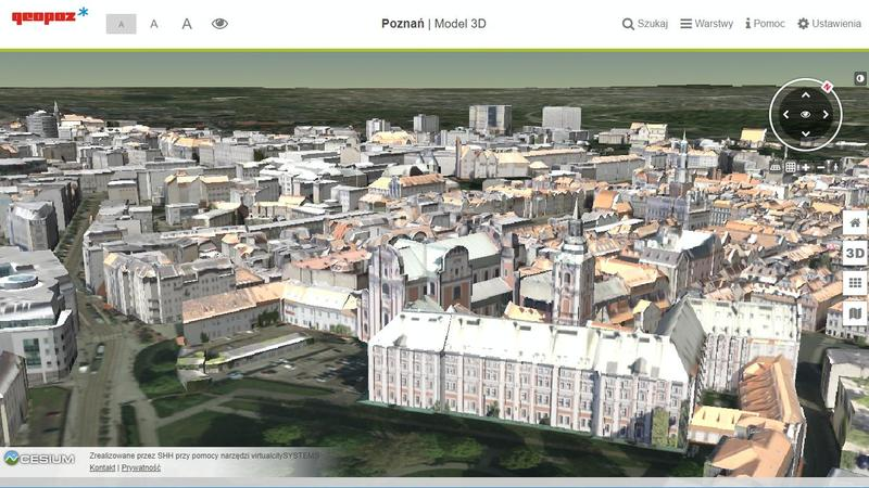 3d model of Poznan