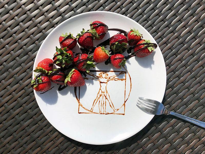Vitruviansky muz jahody