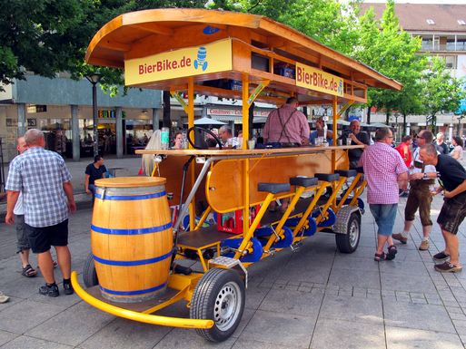 Slider beer bike ulm germany img 5911s