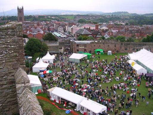 Slider ludlow food festival 2005 from castle