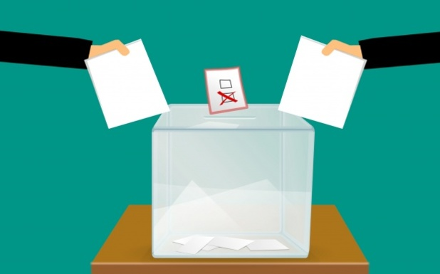 Slider vote voting voting ballot box
