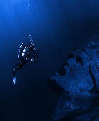 Slider underwater
