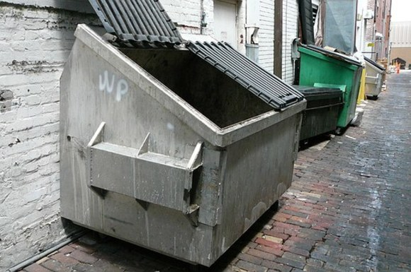 Slider dumpster