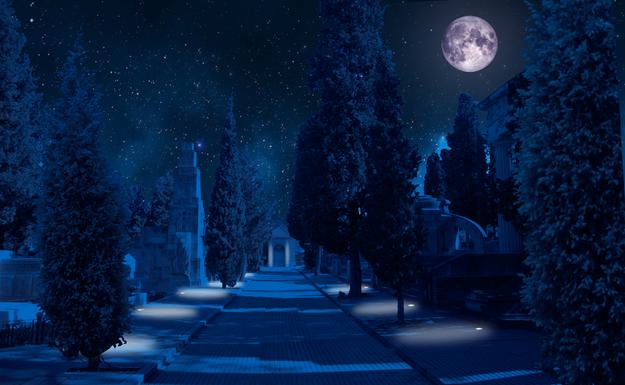 Slider cementerio civil imagen nocturna