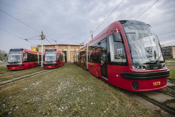 Slider lodz trams
