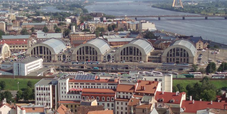 Slider riga central market hall
