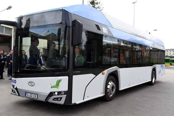 Slider hydrogen power bus poznan