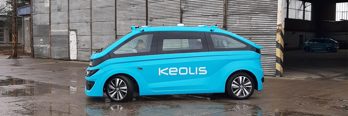 Slider vehicule autonome keolis