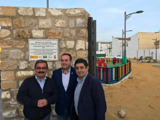 Slider 1800 square meters of green area in sabiote inaugurated in the end of december