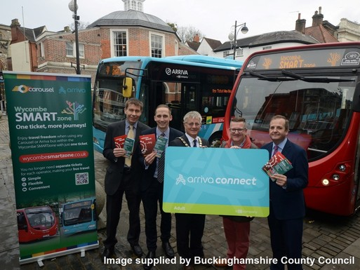 Slider a smartzone for buses in high wycombe