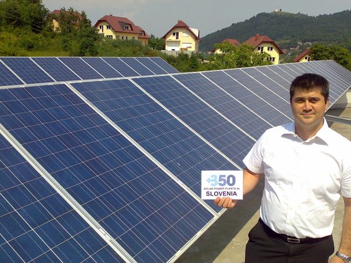 Slider integration of renewable energy source into slovenian distribution network through a new project