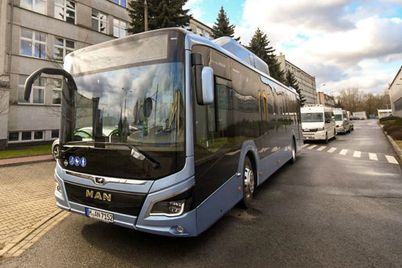 Slider new eco buses in krakow