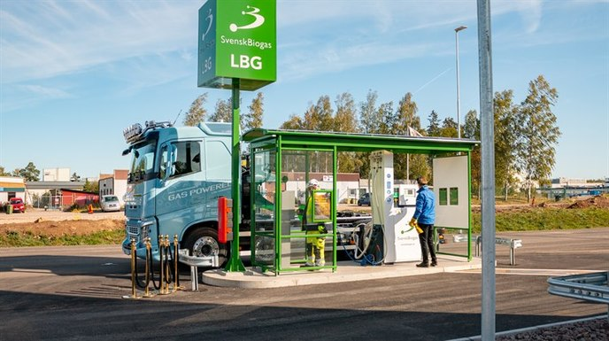 Slider new renewable fuel station for transport in link%c3%b6ping