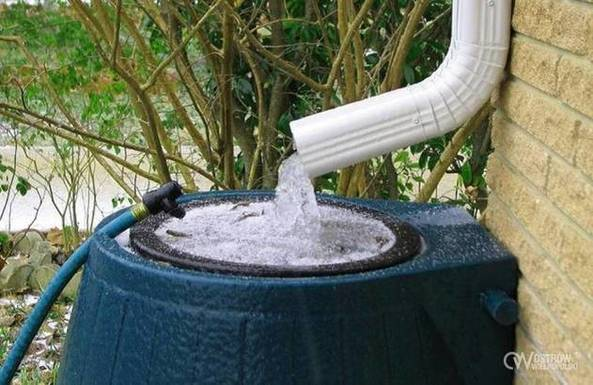Slider rainwater catcher