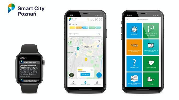 Slider smart city poznan app
