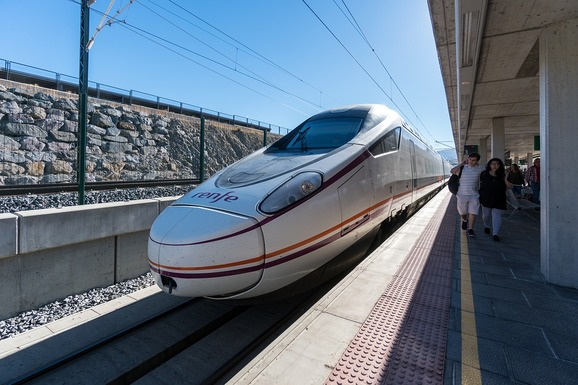 Slider high speed spanish train