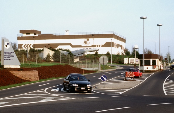 Slider spangdahlem air base main gate in 1998