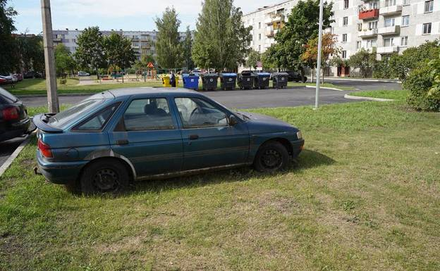 Slider abandoned car