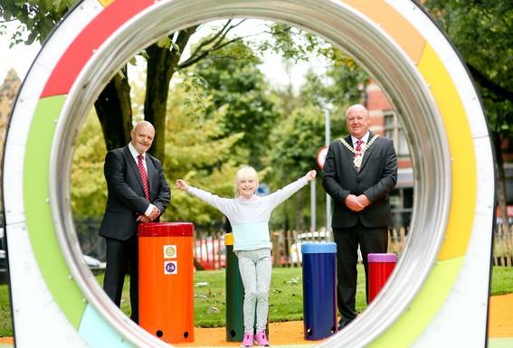 Slider pop up park at cathedral gardens in belfast city centre