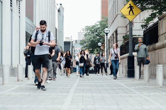 Slider pedestrians