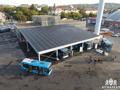 Slider budapest buses solar panels