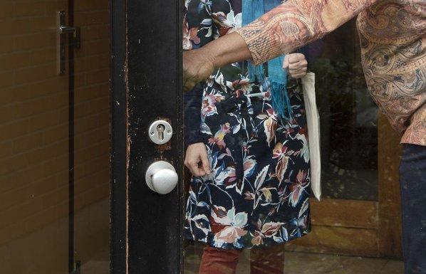 Slider visitor to a senior