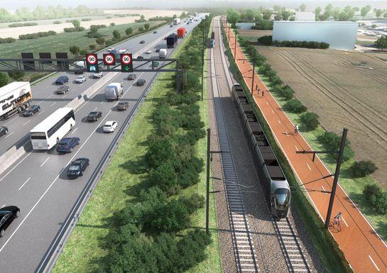 Slider tram luxembourg esch illustration