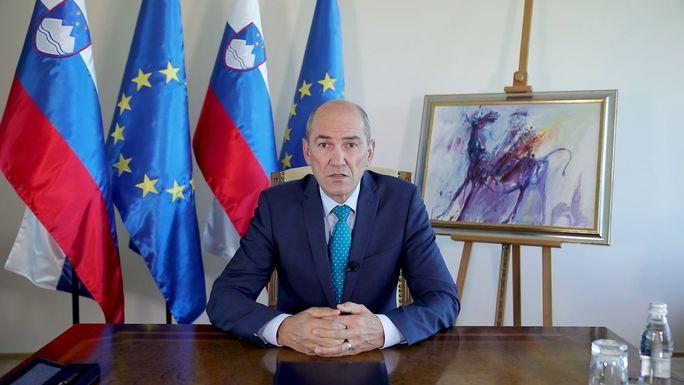 Slider prime minister janez jan%c5%a1a. author kabinet predsednika vlade