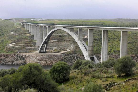 Slider high speed railway line in spain